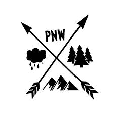 Yjzt 13cm 14 1cm Pnw Mountain Graphic Arrows Pacific Northwest Car Sticker Tree Vinyl Decal Black Silver C10 02247 Car Stickers Aliexpress