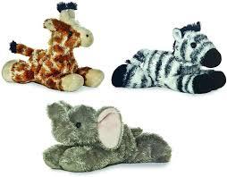Amazon.com: Aurora 31289, 16609, 16607 Jungle Animals - Elephant, Giraffe,  and Zebra Bundle of 3 Plush, Multi-Color: Toys & Games