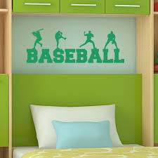 Baseball Decals For Bedroom Baseball Vinyl Wall Decal