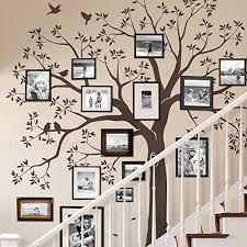 Amazon Com Simple Shapes Staircase Family Tree Wall Decal Tree Wall Decal Chestnut Brown Standard Size 109 5 W X 105 H Inch Home Kitchen