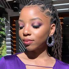 chloe and halle s naacp makeup look