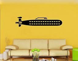 Amazon Com Submarine Wall Decal Marine Vinyl Sticker Nursery Wall Decor Wall Art Decorations 3sbe Kitchen Dining