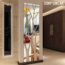 3d Mirror Vinyl Removable Wall Sticker For Living Room Bedroom Tree Wallpaper Decal Home Decor Art Diy Wish