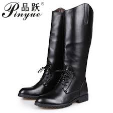 round toe lace up mens knee high