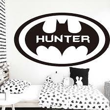Personalized Batman Monogram Wall Sticker Bat Cave Pop Art Outlet
