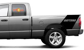 Product Daytona Dodge Ram 1500 Bed Side Racing Rear Stripe Vinyl Decal Sticker