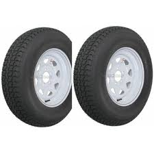 2 Pack Trailer Tire On Rim St205 75d14 205 75 D 14 In Lrc 5 Hole White Spoke Walmart Com Walmart Com