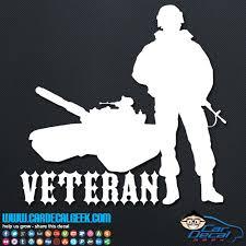 Veteran Soldier Tank Vinyl Car Window Decal Sticker