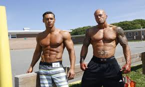 Male Models Anton Antipov and John Quinlan at NPC Physique Finals ...