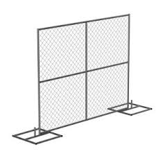 Vestil Hrail 72 In Galvanized Silver Construction Barrier Add On Unit Chainlink Without Slats Hrail A 9072 The Home Depot