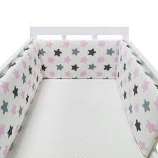 Big Sale 2301 Baby Bed Crib Bumper U Shaped Detachable Zipper Cotton Newborn Bumpers Infant Safe Fence Line Bebe Cot Protector Unisex Cicig Co