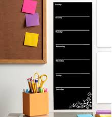 Weekly Chalkboard Calendar This Week Horizontal Calendar Wall Decal For Sale Online Ebay