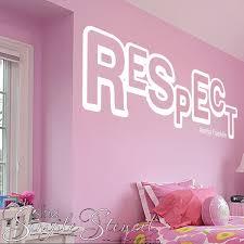 Respect Aretha Franklin Wall Decal Sticker Stencil Girls Room Decor