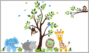 Baby Bump Nursery Wall Decals Safari Animal Decals Jungle Theme Nurserydecals4you