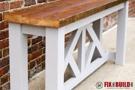 diy sofa table how to build with