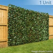 Christow Artificial Ivy Leaf Hedge Screening Expanding Willow Trellis With Leaves Outdoor Garden Privacy Screen Wall Fence Panel H1m X W2m 3ft 3 X 6ft 5 Amazon Co Uk Garden Outdoors