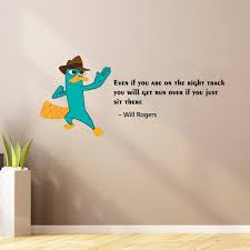 Design With Vinyl Right Track Perry The Platypus Wall Decal Wayfair