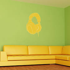 Headphone Wall Decal Music Wall Decal Wall Decal World