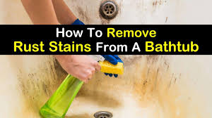 remove rust sns from a bathtub