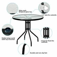 outdoor patio coffee table tempered