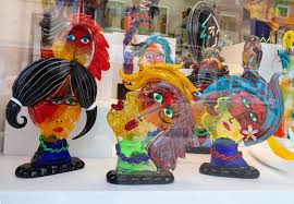murano glass artworks on di by