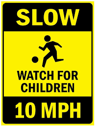 Amazon Com Slow Watch For Children 10 Mph Vinyl Sticker Decal 8 Office Products