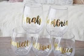 personalized stemless plastic wine