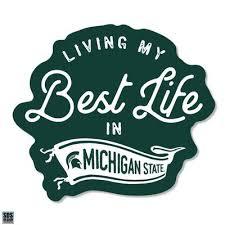 Michigan State Spartans Msu Automotive Decals Alumni Hall