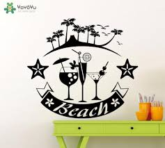 Wall Decal Sea Cocktails Vinyl Wall Sticker Holiday Themes Palms Beach Art Decor Home Adventure Interior Accessories Wall Stickers Letters Wall Stickers Love From Onlinegame 11 85 Dhgate Com