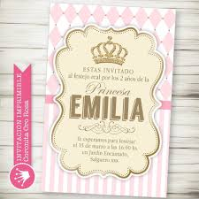 Kit Imprimible Corona Princesa Rosa Decora Tu Cumple