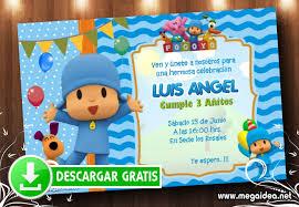 Invitacion Pocoyo Cumpleanos Gratis Mega Idea