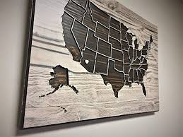 wall art 19 x25 maps wood plank brown