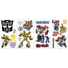 Roommates 11 5 In Multi Color Transformers Autobots Peel And Stick Wall Decals Rmk2461scs The Home Depot