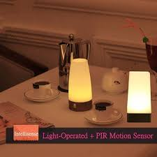 Retro Bedside Table Lamps Wireless Led Table Lamp Battery Powered Pir Motion Sensor Night Light Sensitive Portable Moving Warm White For Kids Room Hallway Wish