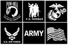 6 Vinyl Military Veteran Pow Mia Or U S Flag Car Truck Window Dec Grunt Force