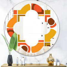 East Urban Home Quatrefoil Abstract Geometric Pattern Vi Modern Frameless Wall Mirror Wayfair