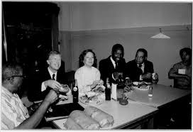 Photograph of President Jimmy Carter, First Lady Rosalyn Smith Carter and  four unidentified individuals | Black Archives of Mid-America Kansas City
