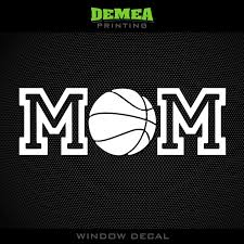 Amazon Com Demea Printing Mom Basketball Window Decal 5 Sports Outdoors