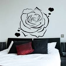 Shop Flower Decals Rose Hearts Love Flowering Blossom Stickers Vinyl Sticker Art Mural Kids Room Sticker Decal Size 22x22 Color Black On Sale Overstock 14757904