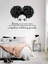 Amazon Com African Woman Wall Decal African Girl Wall Sticker Afro Girl Decal Afro Sticker Quote Wall Decal Beauty Wall Sticker Ga262 I Handmade