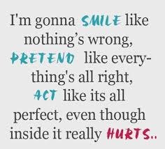 smile even though it hurts quotes quotations sayings