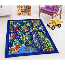 Kids Car Road Rugs City Map Play Mat For Classroom Baby Room Non Slip Rubber Back Walmart Com Walmart Com