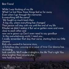 best friend while i was quotes writings by vishvendra