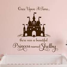 Girl Wall Decal Once Upon A Time Princess Castle Lettering