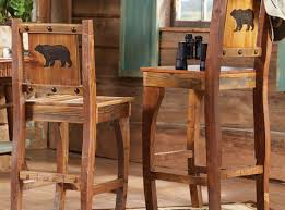 rustic bar stools with backs and arms