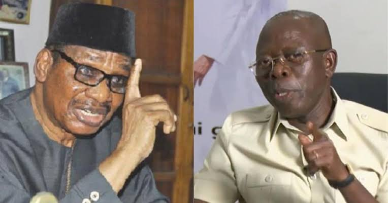 """Image result for Oshiomhole promises not to engage in media war with Sagay Read more: https://www.legit.ng/1271727-oshiomhole-promises-engage-media-war-sagay.html"""""""