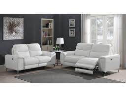 zane power recliner sofa white leather
