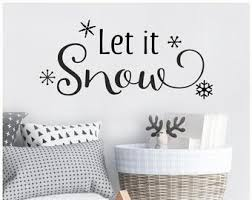 Snow Wall Decal Etsy