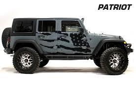 Jeep Wrangler 2007 2016 4 Door Custom Vinyl Decal Kit Patriot Factory Crafts