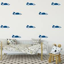 Formula Car Decal Set Of 48 Or 30 Decals Nursery Removable Etsy
